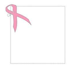pink ribbon paperclip