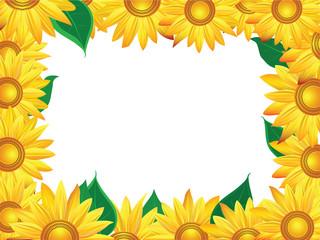Decorate sunflower background