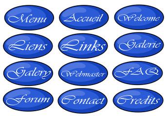 boutons pour site web
