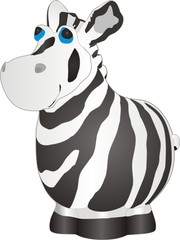 The vector image of a toy zebra on a white background