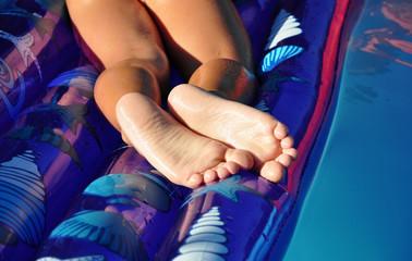 Weiße Fußsohlen