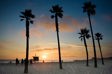 Sonnenuntergang an Venice Beach, Los Angeles