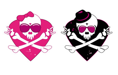 Wedding lovers skeletons symbol