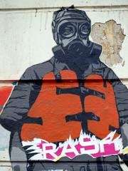 Streetart Maskenmann