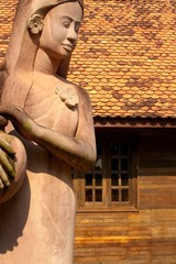 farm girl statue