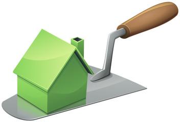 Construire une maison verte (détouré)