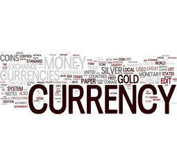 Currency tag cloud