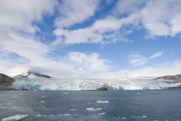 Glacier in Napassorsuaq Fjord