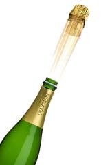 Knallender Champagnerkorken