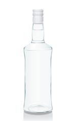 Glass bottle with Russian vodka (serie of images)