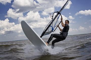 Windsurfer breaking