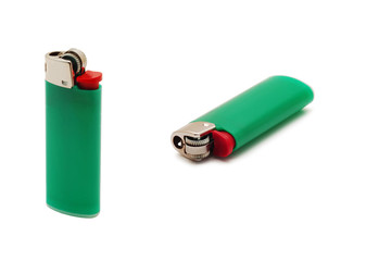 green lighter isolated