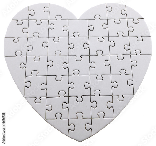 Coeur puzzle colorier photo libre de droits sur la for Puzzle a colorier