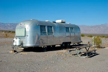 Wohnwagen im Death Valley