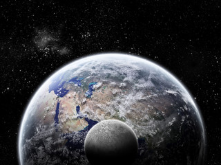Planet Earth Halo - Univers Exploration - Moon Eclipse