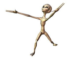 Alien mit Pose