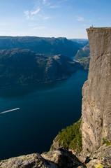 Preikestolen (Priesterstuhl) am Lysefjord, Norwegen