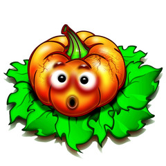 Zucca Halloween-Halliween Pumpkin-Citrouille-Cartoon