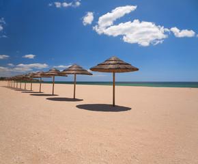Wall Mural - beach umbrellas