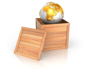 Earth in crate