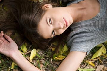 Cadres-photo bureau girl in the autumn park