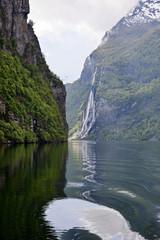 Geiranger fjord landscape