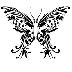 The abstract butterfly