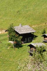 chalet dans les alpes, savoie, France