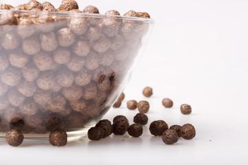Breakfast, chocolate balls