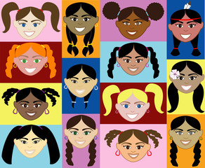 14 Girls Faces 2.