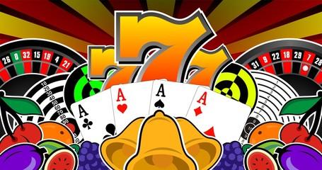 Glücksspiel Illustration Asse 777