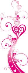Ranke mit Herzen, filigran, Liebe, love