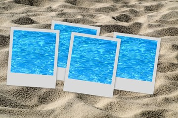 Set of pictures on sand