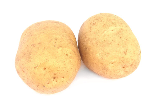 Two potatoes isolated