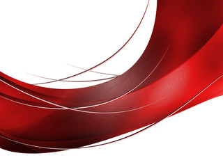 Abstract red Composition with lines and curves
