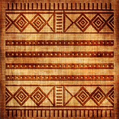 old texture with african patterns