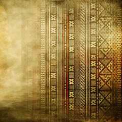 vintage golden background with african ornament