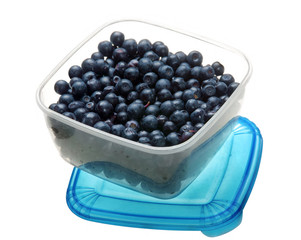 Blueberry in box