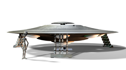 Raumschiff mit Aliens