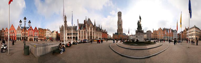 Poster Bridges Market, Bruges, Belgium