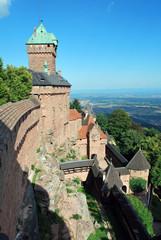 Depuis les remparts du chateau du Haut Keonigsbourg