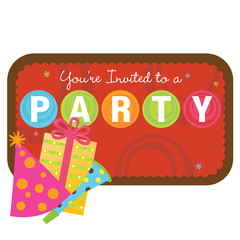 Isolated party items with sign