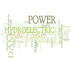 Hydroelectric tag cloud