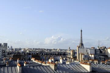 Paris-Tour Eiffel et ses toits