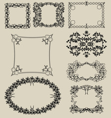 Floral frames for photos