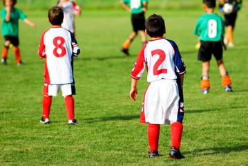 sul campo di calcio