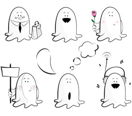 Ghosts emotions icons