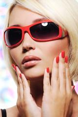 Glamour portrait of caucasian woman