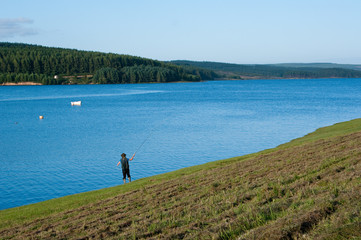 Flyfisher at Kielder Water