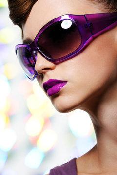 girl in fashion sunglasses